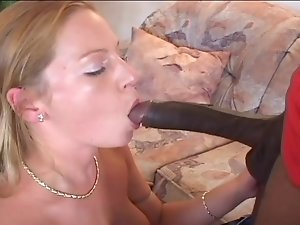 Russian hooker Elena sucks gigantic black dick