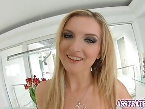 Face fucked Jemma loves to take it up the ass