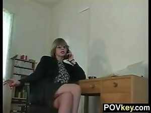 Mature Woman In Nylons Teasing