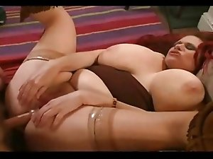 Redhead BBW gets her fat ass nailed